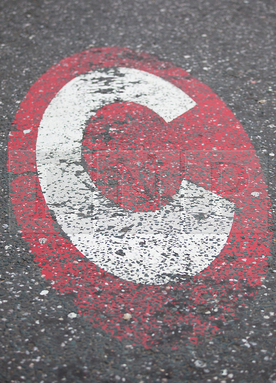 © Licensed to London News Pictures. 18/02/2013. London, UK. On the 10th anniversary of its implementation a congestion charge scheme sign is seen on a road in Lambeth, London, today (18/02/2013). Photo credit: Matt Cetti-Roberts/LNP