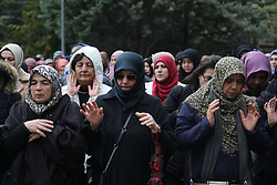 Women perform prayers for the people killed during the mosque attacks in New Zealand, during a protest in Ankara, Turkey, March 16, 2019. World leaders expressed condolences and condemnation Friday following the deadly attacks on mosques in the New Zealand city of Christchurch, while Muslim leaders said the mass shooting was evidence of a rising tide of violent anti-Islam sentiment. Photo by Depo Photos/ABACAPRESS.COM
