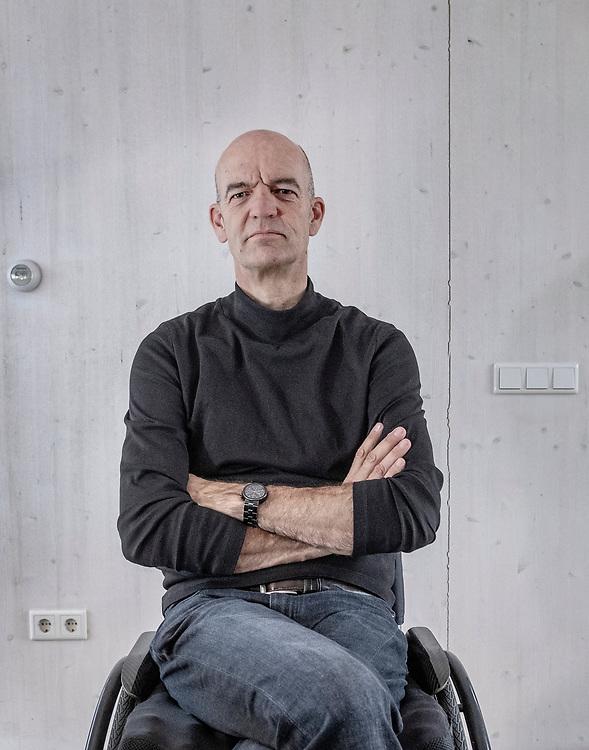 Nederland. Haarlem, 01-03-2019. Foto: Patrick Post. Portret van architect Ed Bijman.
