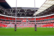 Wembley Stadium ready for the Challenge Cup Final 2016 match between Warrington Wolves and Hull FC at Wembley Stadium, London, England on 27 August 2016. Photo by Craig Galloway.