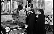 04/02/1964<br /> 02/04/1964<br /> 04 February 1964<br /> Presentation, Austin 7, by Lincoln and Nolan, Mansion House, Dublin, Austin, 7 by Mr H.M. Brierley, Managing Director of Lincoln and Nolan Ltd, St. Mary's School, Blind, The Lord Mayor,  Dublin, Alderman, Sean Moore, TD; Mother, Mary, Laurentia, Superior, St. Mary's, Sister Mary Josephine,