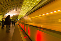 The Washington Metro (at Metro Center station), Washington D.C., U.S.A.