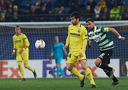 February 21, 2019 - Villarreal, Castellon, Spain - Manu Trigueros of Villarreal CF and Bruno Fernandes of Sporting Lisboa during the UEFA Europa League Round of 32 Second Leg match between Villarreal and Sporting Lisboa at Estadio de La Ceramica on February 21, 2019 in Vila-real, Spain. (Credit Image: © AFP7 via ZUMA Wire)