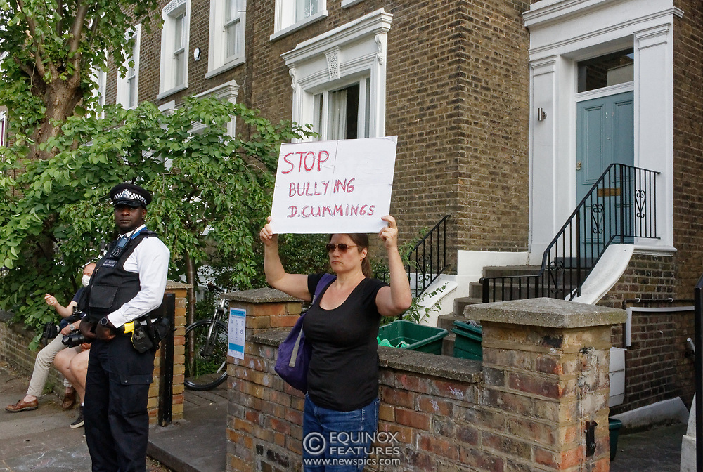 London, United Kingdom - 26 May 2020<br /> The scene at Dominic Cummings home in North London today where the police monitored the street and two or three supporters turned up to support of him as he arrived home. Islington, London, England, UK.<br /> **VIDEO AVAILABLE**<br /> (photo by: EQUINOXFEATURES.COM)<br /> Picture Data:<br /> Photographer: Equinox Features<br /> Copyright: ©2020 Equinox Licensing Ltd. +443700 780000<br /> Contact: Equinox Features<br /> Date Taken: 20200526<br /> Time Taken: 17520023<br /> www.newspics.com