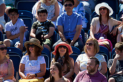 LIVERPOOL, ENGLAND - Sunday, June 24, 2018: Spectators laugh during day four of the Williams BMW Liverpool International Tennis Tournament 2018 at Aigburth Cricket Club. (Pic by Paul Greenwood/Propaganda)