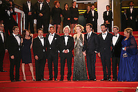 The cast and director on the red steps at the Heminway & Gellhorn gala screening at the 65th Cannes Film Festival France. Friday 25th May 2012 in Cannes Film Festival, France.
