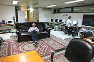 Press room in the Green Zone in Baghdad, Iraq.
