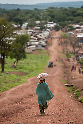 3 June 2019, Djohong, Cameroon: A woman makes her way towards the Borgop refugee camp in Cameroon. The Borgop refugee camp is located in the municipality of Djohong, in the Mbere subdivision of the Adamaoua regional state in Cameroon. Supported by the Lutheran World Federation since 2015, the camp currently holds 12,300 refugees from the Central African Republic.
