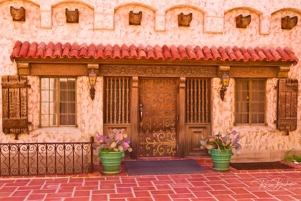 Courtyard entrance at Scottys Castle (Death Valley Ranch), Death Valley National Park. California