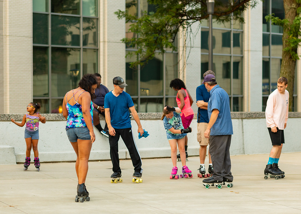 Roller Dance Party at Cascade Plaza