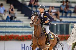 Janssen Jan, NED, Kalm-Hay<br /> Nationaal Kampioenschap KWPN<br /> 5 jarigen springen final<br /> Stal Tops - Valkenswaard 2020<br /> © Hippo Foto - Dirk Caremans<br /> 19/08/2020