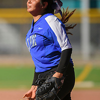 Navajo Pine Warrior Alexis Tsosie-Hood (9) release a pitch to a Wingate Bear batter during the Wingate Softball Slam tournament at Ford Canyon Park in Gallup Friday.