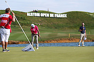 Jaco Van Zyl (RSA) putting on the last during the Final Round of the 2015 Alstom Open de France, played at Le Golf National, Saint-Quentin-En-Yvelines, Paris, France. /05/07/2015/. Picture: Golffile | David Lloyd<br /> <br /> All photos usage must carry mandatory copyright credit (© Golffile | David Lloyd)