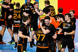 Players of team Netherlands during Men's EHF EURO 2022 Qualifiers between national teams Slovenia and Netherlands in Arena Zlatorog, Celje, Slovenia on 10. January, 2021. Photo by Grega Valancic