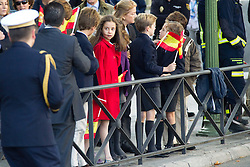 12.10.2010, Madrid, ESP, Spain National Day in Madrid, im Bild Princess Letizia, Prince Felipe, Princess Elena, Princess Cristina and Inaki Urdangarin, King Juan Carlos and Queen Sofia attend the military parade at Spain`s National Day in Madrid. Pictured Princess Victoria Federica, (Princess Elena's daughter). EXPA Pictures © 2010, PhotoCredit: EXPA/ Alterphotos/ Cesar Cebolla +++++ ATTENTION - OUT OF SPAIN / ESP +++++