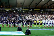 Scotland  and Portugal line up for the Friendly international match between Scotland and Portugal at Hampden Park, Glasgow, United Kingdom on 14 October 2018.