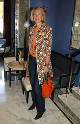 MARIE CLAIRE AGNEW  at a fashion show with designs by Irish designer Louise Kennedy held in the Blue Bar, Berkeley Hotel, London on 12th May 2005.<br /><br />NON EXCLUSIVE - WORLD RIGHTS