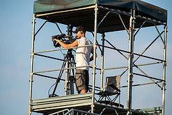TV cameraman during football match between NK Triglav and NS Mura in 5th Round of Prva liga Telekom Slovenije 2019/20, on August 10, 2019 in Sports park, Kranj, Slovenia. Photo by Vid Ponikvar / Sportida