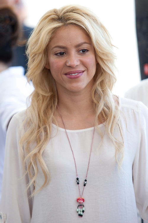 Colombian singer Shakira is seen during her visit to a Bilingual school in Jerusalem on June 21, 2011.