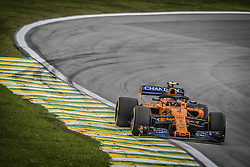 November 9, 2018 - Sao Paulo, Brazil - 02 VANDOORNE Stoffel (bel), McLaren Renault MCL33, action during the 2018 Formula One World Championship, Brazil Grand Prix from November 08 to 11 in Sao Paulo, Brazil -  FIA Formula One World Championship 2018, Grand Prix of Brazil World Championship;2018;Grand Prix;Brazil  (Credit Image: © Hoch Zwei via ZUMA Wire)