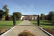 Winery building. Chateau Haut Chaigneau, Lalande de Pomerol, Bordeaux, France