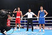 Boxen: AIBA Box-WM, Day 3, Hamburg, 20.08.2017<br /> 91 Kg: David Nyika (NZL, Red) - Igor Teziev (GER, Blue)<br /> © Torsten Helmke