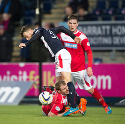 Brechin City's Gary Fusco and Falkirk's Rory Loy. <br /> Falkirk 2 v 1 Brechin City, Scottish Cup fifth round game played today at The Falkirk Stadium.