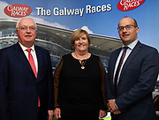 25/09/2018 Repro free: Peter Allen Chairman Galway Race Course and his wife and Rory Fitzpatrick Clayton Hotel at the launch of Galway Racecourse  details of their new and exciting three-day October Festival that takes place over the Bank Holiday weekend, Saturday 27th, Sunday 28th and Monday 29th continuing racing and glamour into the Autumn.<br />   Each of the three race days offers something for all the family to enjoy, with a special theme attached to each day, together with fantastic horse racing, live music, delicious hospitality, entertainment and of course the meeting of old friends and new at Ballybrit.  <br /> Halloween Family Fun <br /> On Saturday 27th October come along with your children and grand children and enjoy the 'Spooktacular' Halloween themed family fun day with lots of entertainment including a fancy-dress competition, Halloween games and face painting to mention but a few!! All weekend children under 16 years of age have free admission. <br /> Race in Pink <br /> As part of this new October Festival and with-it being Breast Cancer Awareness month, Galway Racecourse have partnered with The National Breast Cancer Research Institute to host a dedicated fundraiser on Sunday 28th October called 'Race in Pink'.  <br /> <br /> Student Race Day in aid of the Voluntary Services Abroad <br /> Monday sees the return of our annual 'Student Race Day' in conjunction with the Voluntary Services Abroad (a medical aid charity run by the fourth-year medical students of NUI, Galway), and the NUIG Rugby Club.  Each year, this fundraising day for the student organisations raises a tremendous amount of money for their chosen projects including the VSA annual summer volunteer trip to Africa where they use the funds raised to help projects at the hospitals they visit. <br />  National hunt racing on Saturday kicks off at 2.05pm with racing Sunday and Monday off at 1.05pm. Adult admission on all three days is €15 with children under 16 years of age, free. For more 