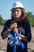 Houston ISD Trustee Rhonda Skillern-Jones participates in ground breaking ceremonies at Washington High School, April 5, 2016.