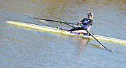 Boston, Great Britain. Women's Single Scull GBR W1X . Rachel GAMBLE-FLINT,  compete's in the 2013 GBRowing second assessment, Boston Rowing Club, River Witham, Lincolnshire.    Saturday  09/02/2013   [Mandatory Credit. Peter Spurrier/Intersport Images]