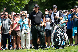 August 5, 2018 - Akron, OH, U.S. - AKRON, OH - AUGUST 05:   Phil Mickelson (USA) looks at the green from the trees on the 6th hole during the final round of the World Golf Championships - Bridgestone Invitational on August 5, 2018 at the Firestone Country Club South Course in Akron, Ohio. (Photo by Shelley Lipton/Icon Sportswire) (Credit Image: © Shelley Lipton/Icon SMI via ZUMA Press)
