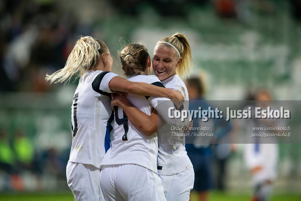 2-0, Suomi - Skotlanti. Naisten MM-karsinta. Turku 21.9.2021. Photo: Jussi Eskola