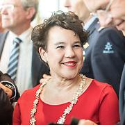 NLD/Amsterdam/20190314  - Koning bij viering 100 jaar Luchtvaart  in Nederland, Sharon Dijksma