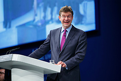 © Licensed to London News Pictures. 05/10/2015. Manchester, UK. Communities and Local Government Secretary Greg Clark speaking at Conservative Party Conference at Manchester Central in Manchester on Monday, 5 October 2015. Photo credit: Tolga Akmen/LNP