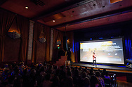 Tom Steel introduces the film at the screening of Blood Road at the Bluebird Theater in Denver, CO, USA on 27 June, 2017.