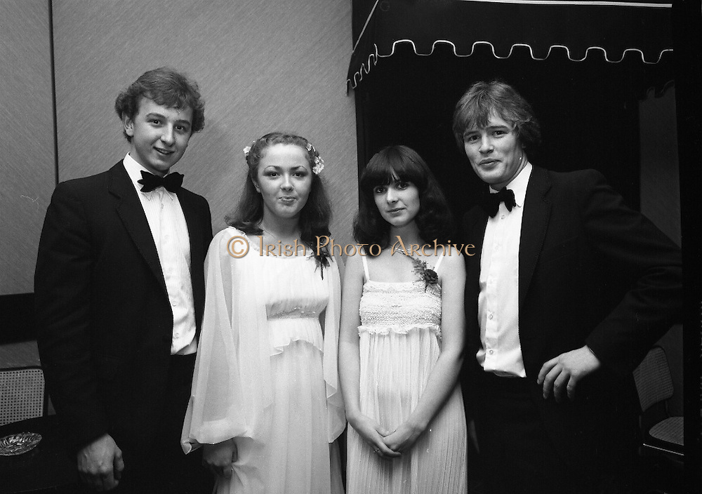 Notre Dame Des Missions Debutante Ball  (N51)..1980..15.11.1980..11.15.1980..15th November 1980..The Notre Dame Des Missions Convent School held the 18th annual Debutantes Ball. The ball was held in Jury's Hotel,Ballsbridge ,Dublin. The convent school is located in Churchtown,Dublin 14..Do you know the people in this image if you do why not let us know at irishphotoarchive@gmail.com  and we will gladly add the caption.