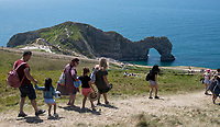 Four people seriously injured after jumping from Durdle Door, air ambulances were called to the scene. This is in light of tourists continuing to ignore social distancing rules on beaches across the country.Photo by Brian Jordan