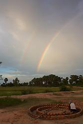 Double Rainbow At Rural School