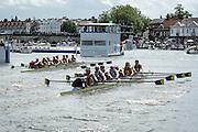 Henley Royal Regatta, Henley on Thames, Oxfordshire, 29 June-3 July 2015.  Saturday  14:08:15   02/07/2016  [Mandatory Credit/Intersport Images]<br /> <br /> Rowing, Henley Reach, Henley Royal Regatta.<br /> <br /> The Temple Challenge Cup<br /> Harvard University, U.S.A. v University of California, Berkeley, U.S.A.