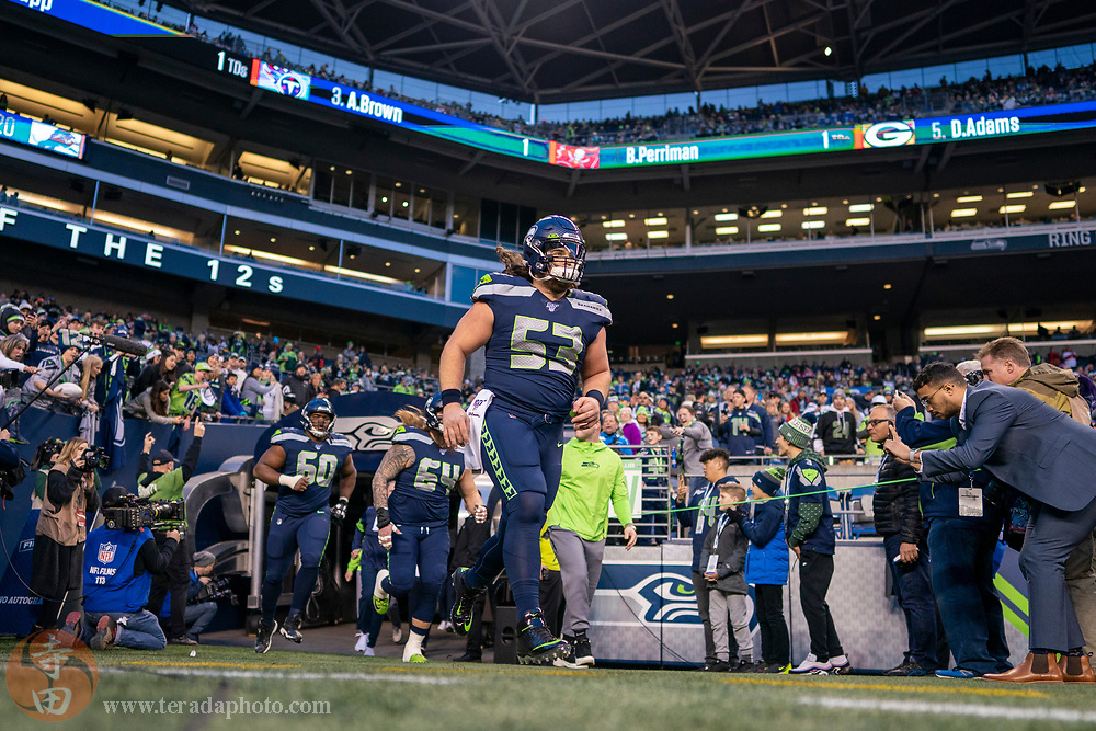 December 29, 2019; Seattle, Washington, USA; Seattle Seahawks center Joey Hunt (53) before the game against the San Francisco 49ers at CenturyLink Field.