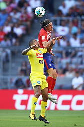 August 1, 2017 - Munich, Germany - Filipe Luis of Atletico de Madrid and Allan Loudeiro of Napoli durign the first Audi Cup football match between Atletico Madrid and SSC Napoli in the stadium in Munich, southern Germany, on August 1, 2017. (Credit Image: © Matteo Ciambelli/NurPhoto via ZUMA Press)