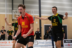 13-04-2019 NED: Prima Donna Kaas Huizen - Spaarnestad , Huizen<br /> Huizen win the match 3-2 and is the champion of the second division C / Lars Hogeveen #13 of PDK Huizen
