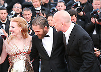 Jessica Chastain, Tom Hardy, John Hillcoat, attend the gala screening of Lawless at the 65th Cannes Film Festival. The screenplay for the film Lawless was written by Nick Cave and Directed by John Hillcoat. Saturday 19th May 2012 in Cannes Film Festival, France.