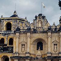 Central America, Guatemala, Antigua. La Merced Church, originally built 1548, starting point for Semana Santa processions in Antigua.