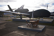 A full-scale model of Northrup Grumman's Global Hawk UAV military drone.