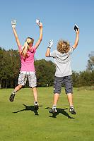 SPAARNWOUDE-Beoefenen van de golfsport. FOTO KOEN SUYK
