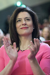 © Licensed to London News Pictures . 15/03/2015 . Liverpool , UK . MIRIAM GONZALEZ DURANTEZ applauds Nick Clegg's speech . The Liberal Democrat Party Conference at the Arena and Conference Centre in Liverpool . Photo credit : Joel Goodman/LNP