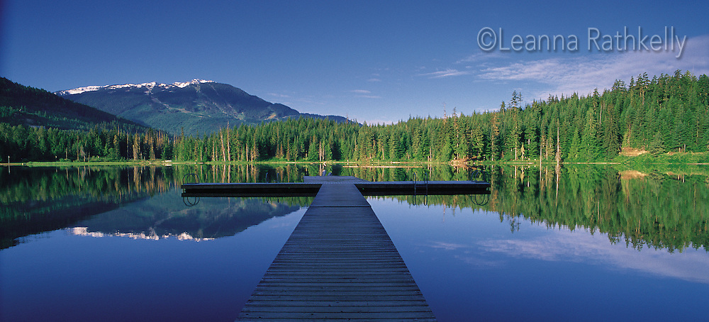 Lost Lake, summer morning, in Whistler, BC