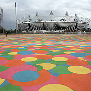 The Olympic Stadium at  Olympic Park in Stratford, the main venue for the 2012 London Olympic Games. Olympic Park, Stratford, UK. 13th July 2012. Photo Tim Clayton