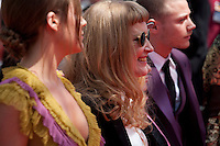 Director Andrea Arnold (center) at the gala screening for the film American Honey at the 69th Cannes Film Festival, Sunday 15th May 2016, Cannes, France. Photography: Doreen Kennedy